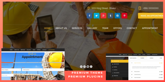 I will Customize WordPress Responsive Site - Plumber Carpenter Painter Electrician SPA Salon or B