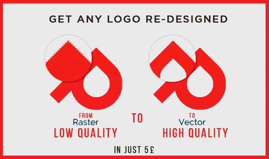 redesign your Low-Resolution Logo into High-Quality Professional Logo with Free Source Files