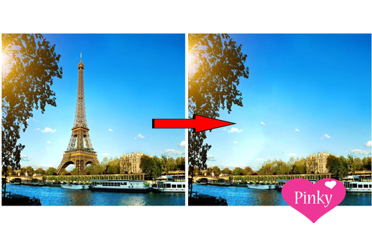 remove any unnecessary objects from photos