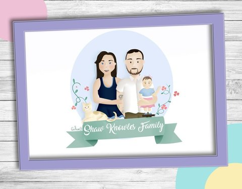 draw family or couple portrait