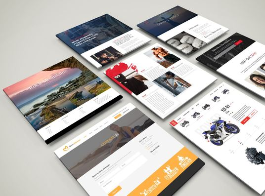 I will design a creative and professional website