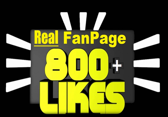 I will add 800 Facebook FanPage Likes
