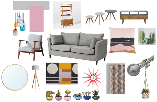 I will create a mood board design for any room with links to suppliers