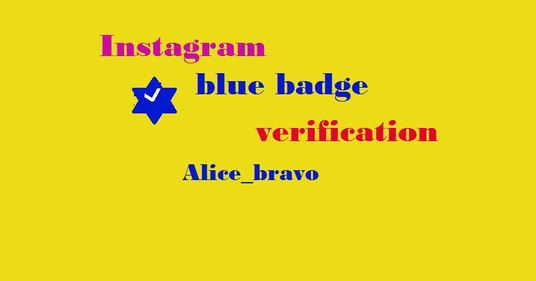 I will Get Blue Badge For Your Instagram