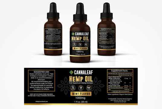 Design Cbd, Hemp Product Label And Packaging Box