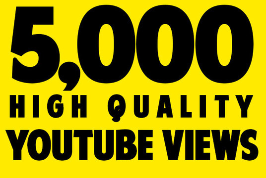 I will Give You High Quality 5,000+ YOUTUBE views- Retention 30sec-5mins