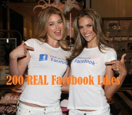 Provide 200 real Facebook likes