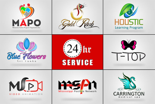 I will Do 2 Modern Business Logo Designs Within 24hrs