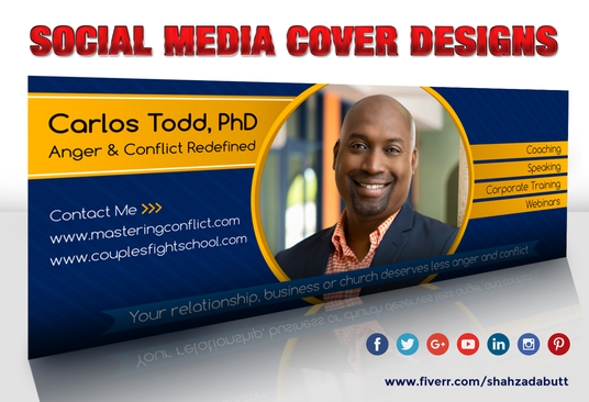 I will design a facebook, twitter, youtube or linkedin cover banner