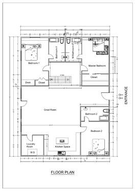 Create professional Floor plan, Elevation, section  for your  Architectural project