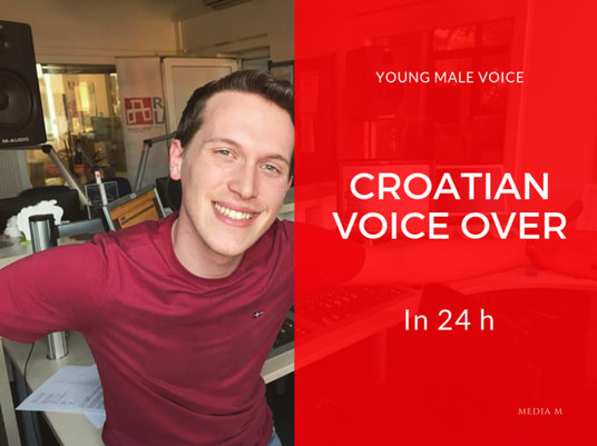 I will record Croatian male voice over
