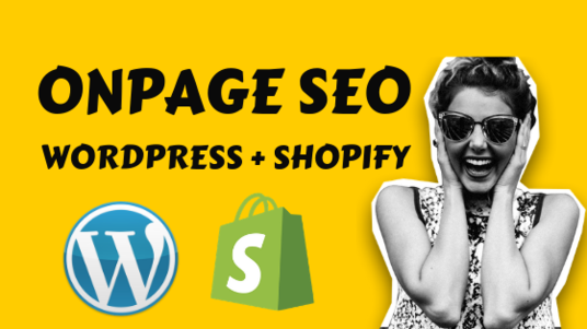 do on-page SEO for WordPress & Shopify website