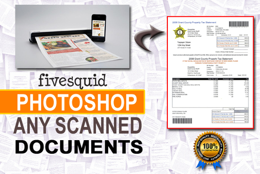 I will edit any photoshop scanned documents