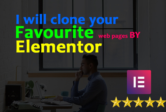 I will Clone Any Web Pages Using Elementor In 24h