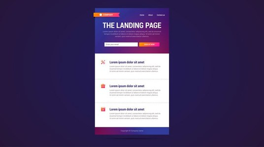 I will create a landing page