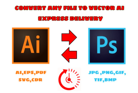 I will convert logo to vector