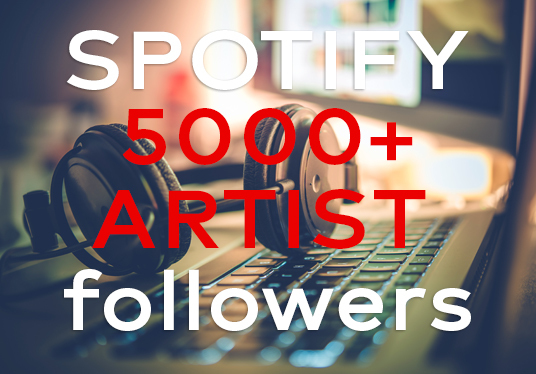 I will add 5000 spotify artist followers