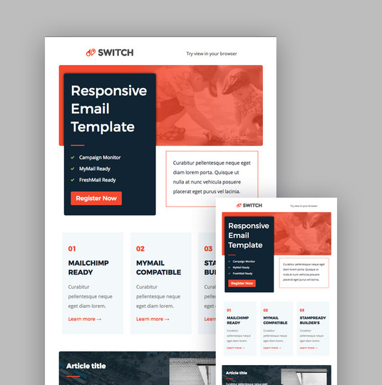 I will Design Editable, Responsive Mailchimp And Html Newsletter Template
