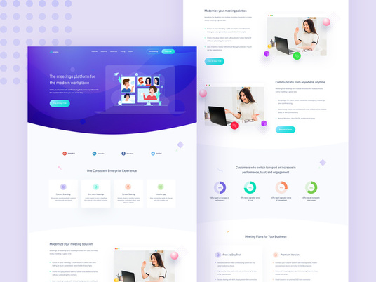 I will Create Professional Landing Page Design