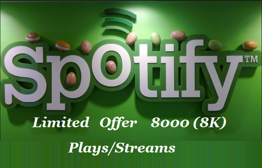 add 8000 Spotify plays to your track INSTANT & NON DROP