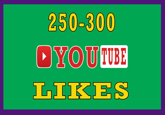 I will Deliver 250-300 Active Youtube  Video Likes