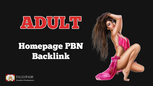 I will make Adult Homepage PBN Backlink on a very popular PA - 40+ Adult Website