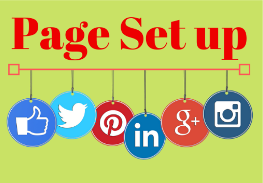 create Social media account or business page set up