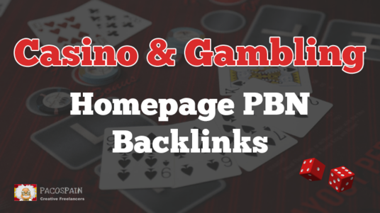 I will give you 10 Casino & Gambling Homepage Backlinks