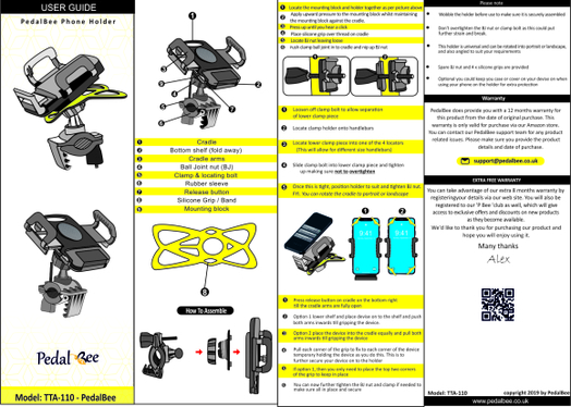 design instruction manual, step by step for your product