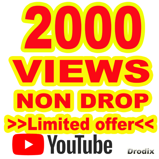 I will provide 2000 Views YouTube Non Drop