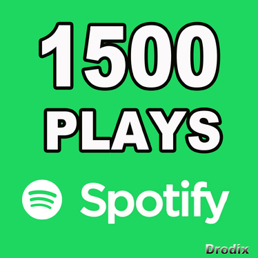 Provide 1500 Spotify Plays