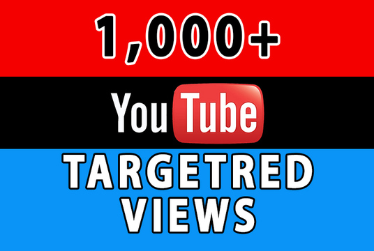 I will provide 1000+ Targeted YouTube Views