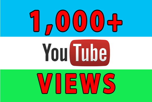I will give 1000+ organic YouTube views