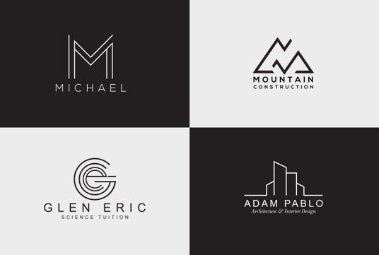 I will do 2 modern minimalist logo designs