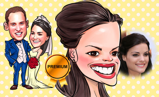 draw your portrait into cartoon caricature in full colour
