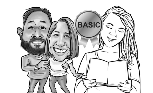 I will draw your photo or picture into caricature in Black and White style