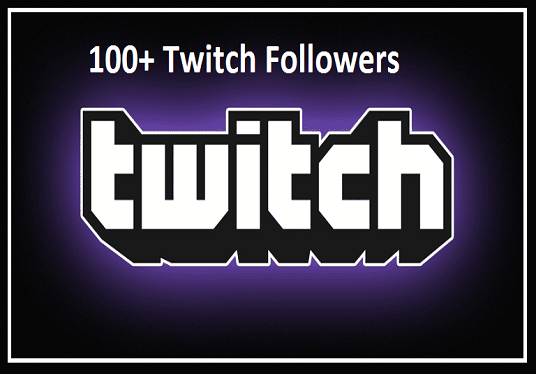 I will give 100+ real twitch followers