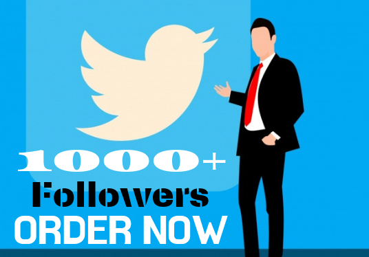 I will give you you twitter followers 1000+
