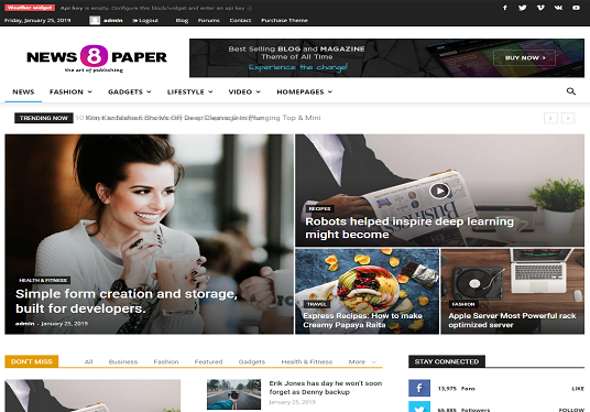 I will create an outstanding news portal site