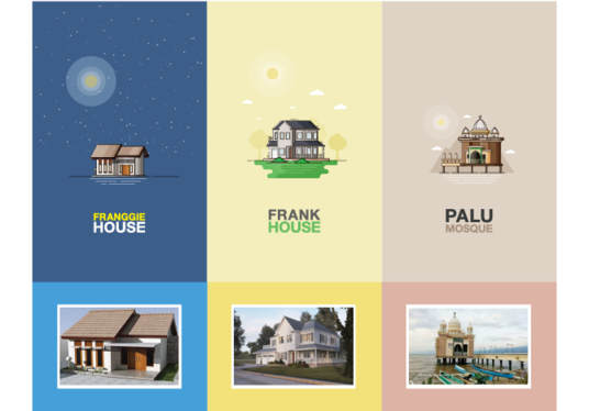 I will turn your house image into the flat line style