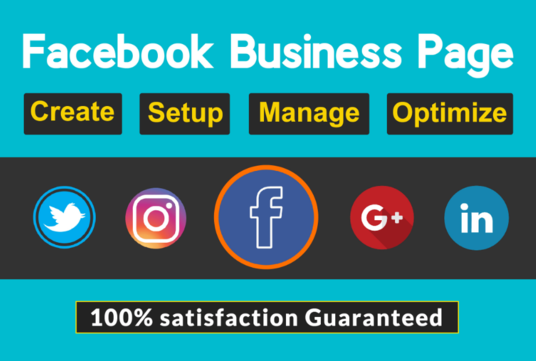 I will Create, Design And Optimize Facebook Business Page