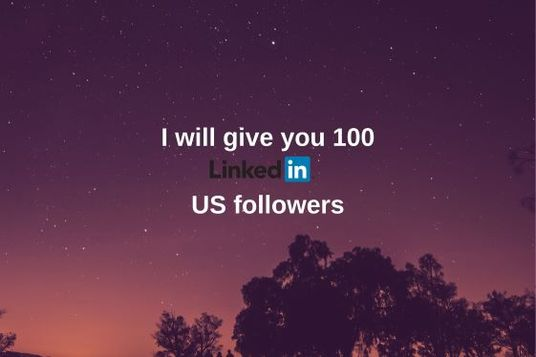 I will give you 100 LinkedIn followers  from the U.S