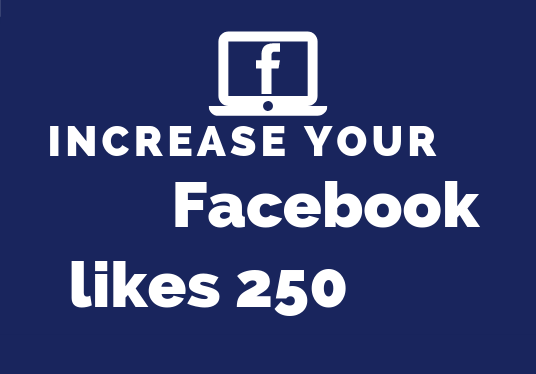 I will provide your facebook page with 250 likes