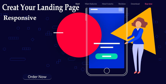 I will make your landing page with full responsive or re design your website