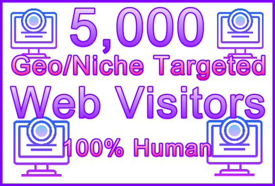 I will Send 5000 Genuine Human Web Visitors, 250+ Geos, 350+ Niches