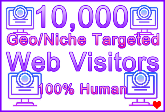I will Send 10,000 Genuine Human Web Visitors, 250+ Geos, 350+ Niches