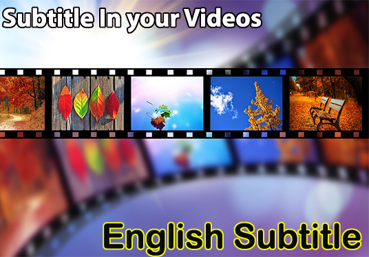 I will Add English subtitle to your videos