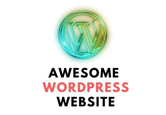 create an awesome WordPress website or redesign the old one