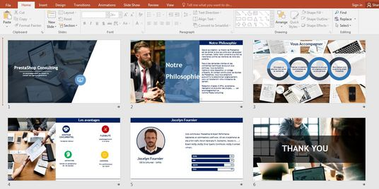 I will Design a sleek powerpoint presentation design