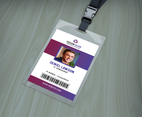 Design Student Press And Professional Id Card